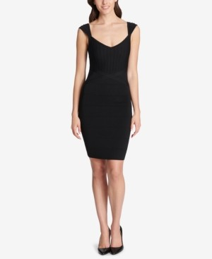 GUESS Sweetheart Bandage Bodycon Dress