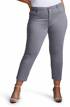 Curves 360 by NYDJ Split Hem Ankle Slim Jeans