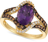 LeVian Le Vian Chocolatier® Amethyst (1-3/8 ct. t.w.) and Diamond (3/8 ct. t.w.) Ring in 14k Gold