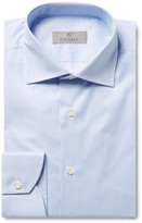 Canali - Blue Slim-fit Striped Cotton Shirt