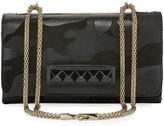 Valentino Garavani Rockstud Camouflage Shoulder Bag, Black