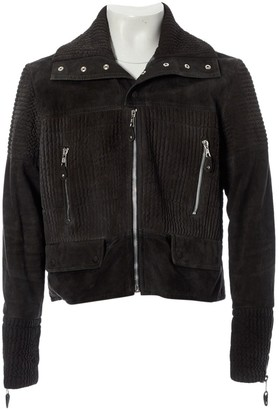 Balenciaga Grey Suede Jackets