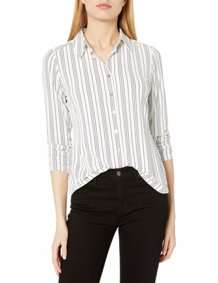 Tommy Hilfiger Women's Collared Button Down Longsleeve Top