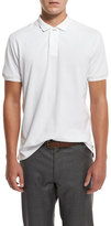 Brunello Cucinelli Pique Polo Shirt, White