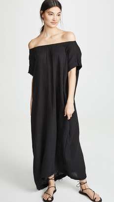 9seed Moonstone Off Shoulder Caftan