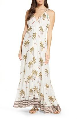Roller Rabbit Morjim Palm Venezia Cover-Up Maxi Dress