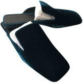 Jil Sander Turquoise Velvet Sandals