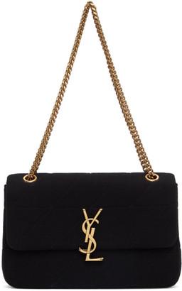 Saint Laurent Black Wool Medium Jamie Bag