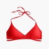 J.Crew Wrap-front halter bikini top