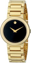 Movado Women's 0606420 Concerto Gold-Plated Stainless-Steel Round Dial Watch