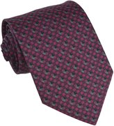 Brioni Mens Multi-Color Silk Geometric Print Necktie