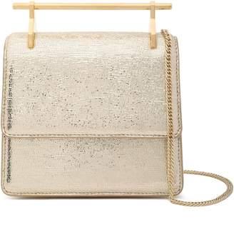 M2Malletier La Collectionneuse Metallic Stingray-effect Leather Shoulder Bag