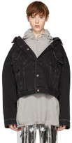 Balenciaga Black Denim Swing Jacket