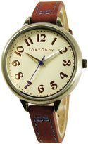 Tokyobay Tokyo Bay T360-RD Women's Trail Stainless Steel Red Leather Band Dial Watch
