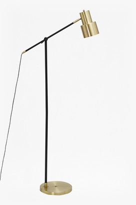 French Connection Brass and Matte Black Floor Lamp