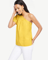 Ann Taylor Petite One Shoulder Top