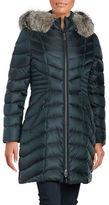 Dawn Levy Natural Fox Fur-Trimmed Down Coat