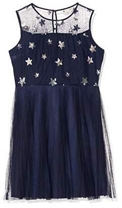 Yumi Embroidered Star Mesh Dress