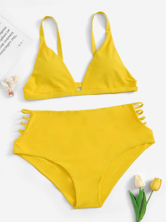 e47ce2ca0d33 Shein Yellow Plus Size Swimsuits - ShopStyle
