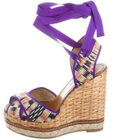 Dolce & Gabbana Raffia Platform Wedges