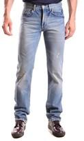 Bikkembergs Men's Blue Cotton Jeans.