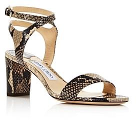 Jimmy Choo Women's Marine Snakeskin-Embossed Leather High-Heel Sandals - 100% Exclusive