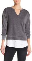 Democracy Distressed Shirttail Sweatshirt