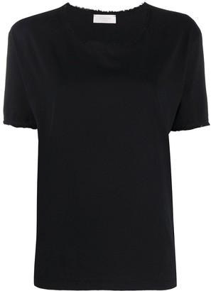 Zanone frayed edge T-shirt