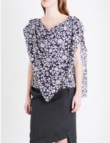Anglomania Sueno floral-print cotton-voile top