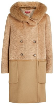 Max Mara Vicky Fox-Trim Coat