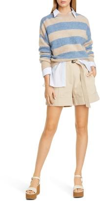 Brunello Cucinelli Stripe Mohair & Wool Blend Sweater