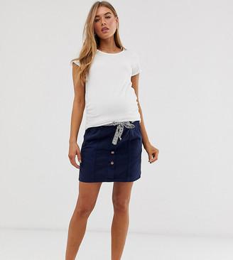 Mama Licious Mama.Licious Mamalicious maternity button front twill mini skirt