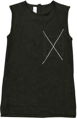 Filles a papa Black Cotton Dress for Women