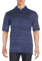 Bugatchi Abstract-Print Polo Shirt