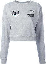 Chiara Ferragni Winking Eye sweatshirt - women - Cotton/Polyester/Spandex/Elastane - XS