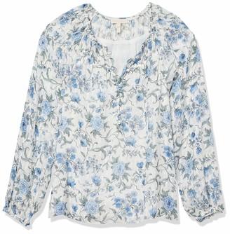 Rebecca Taylor Women's Long Sleeve Esmee Floral Top