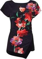 Black Oriental Floral Top