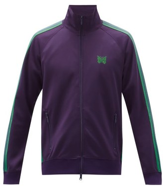 Needles Butterfly-embroidered Jersey Track Jacket - Purple