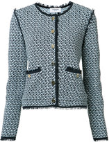 Thom Browne collarless tweed jacket - women - Cotton - 40