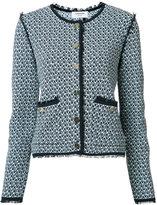 Thom Browne collarless tweed jacket
