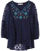 Speechless Girls 7-16 Embroidered Babydoll Lace Tunic