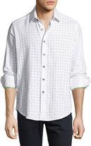 Robert Graham Fort Long-Sleeve Sport Shirt, White