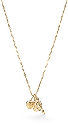 Tiffany & Co. & Love heart and arrow pendant in 18k gold