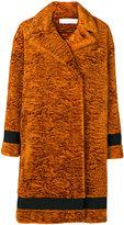 Victoria Victoria Beckham - textured midi coat - women - Cotton/Nylon/Polyester/Wool - 8