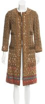Oscar de la Renta Sequin-Accented Tweed Coat
