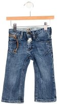 John Galliano Boys' Medium Wash Logo Jeans