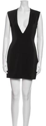 Aq/Aq V-Neck Mini Dress Black V-Neck Mini Dress