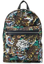 Kenzo Flying Tiger backpack - men - Calf Leather/Nylon - One Size
