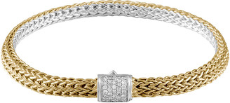 John Hardy Classic Gold & Silver Extra Small Reversible Bracelet