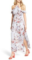 One Clothing Women's Floral Cold Shoulder Maxi Dress